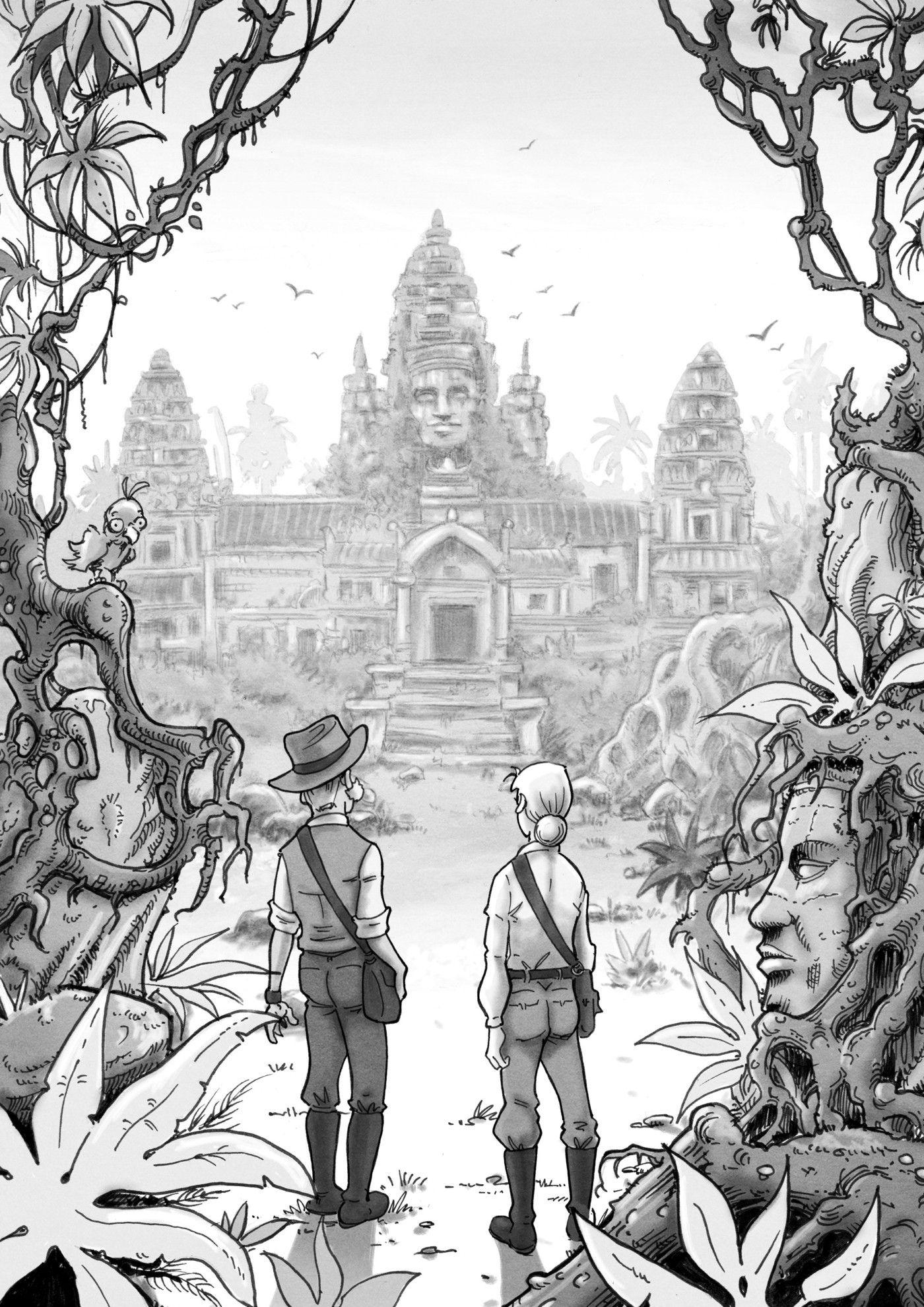 Amanda Black - El Amuleto Perdido - ilustración interior