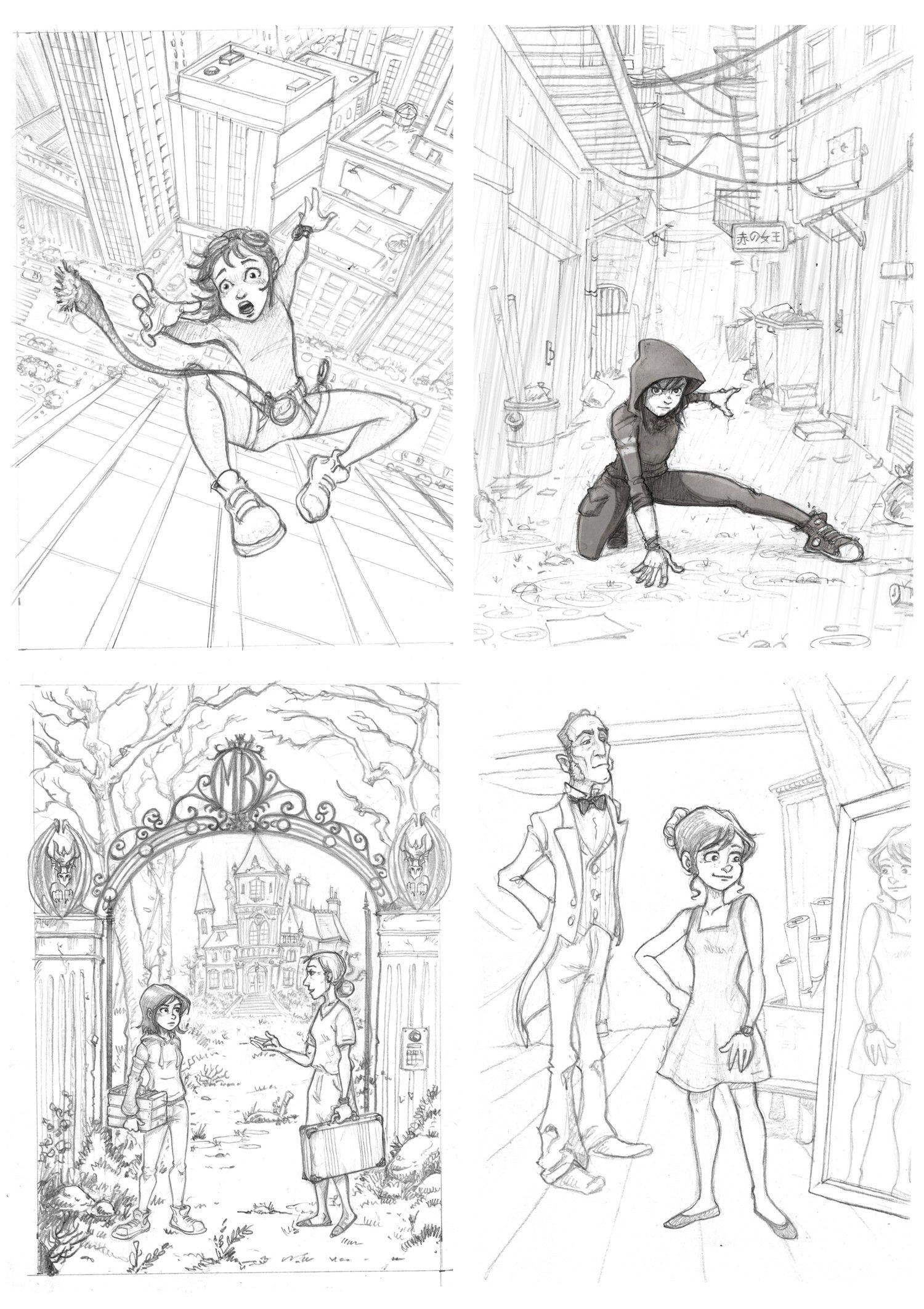 Amanda Black - Una herencia peligrosa - lápices y bocetos