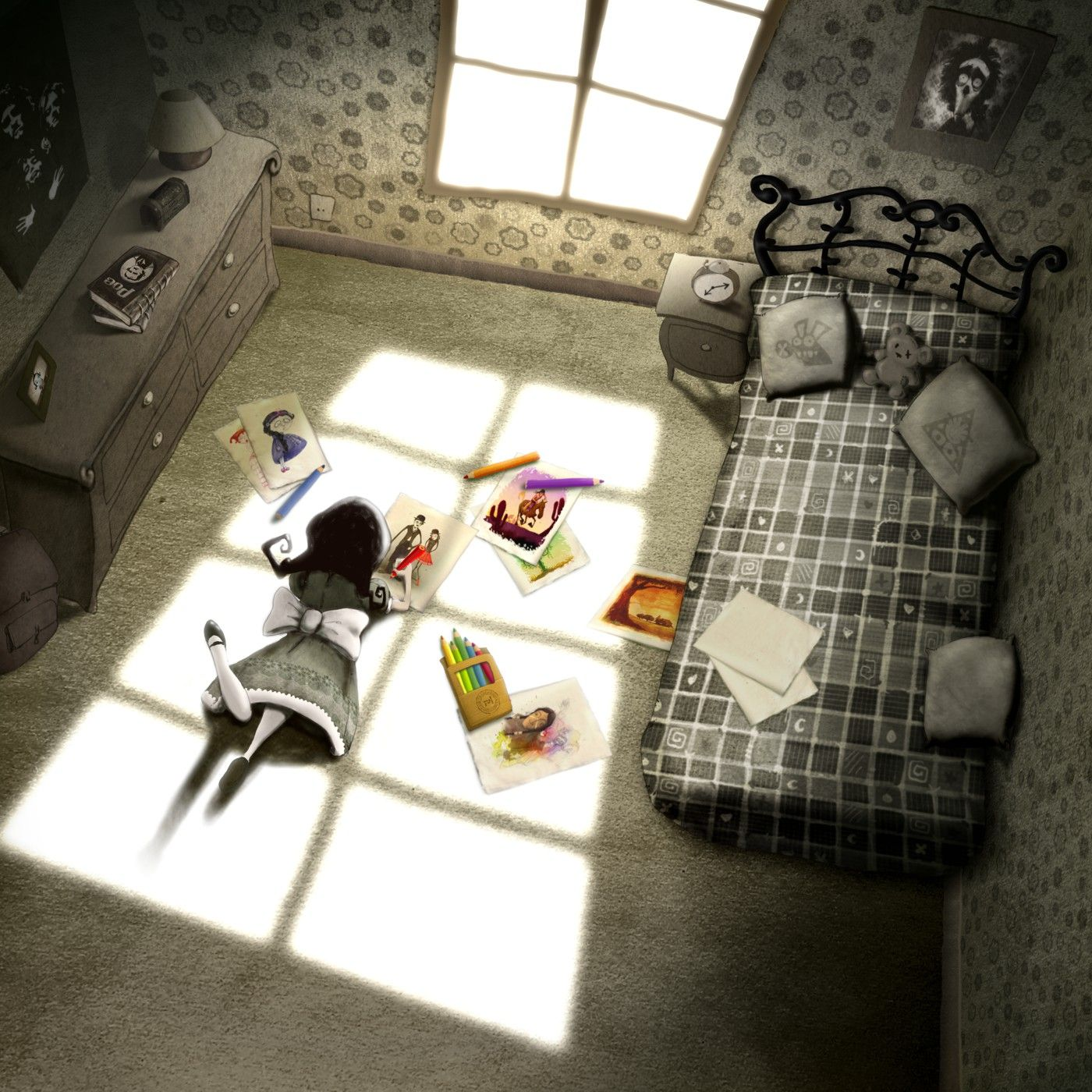 Forgotten Colours - Carmesina's Room illustration