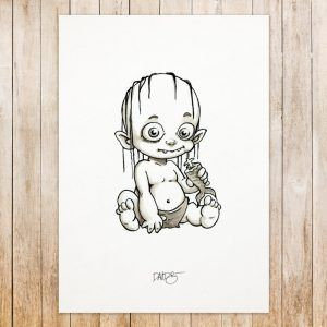 Gollum original art