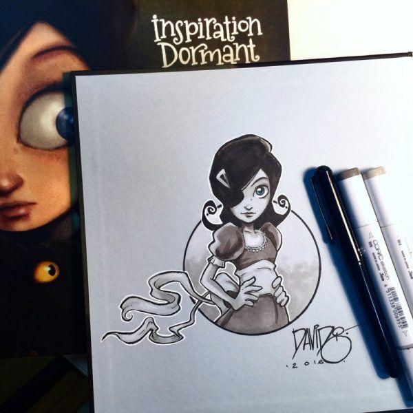 Inspiration Dormant - Original sketch