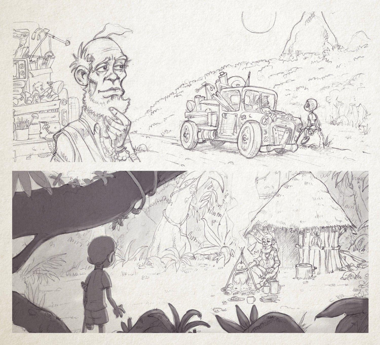 Kirili y el Mago - Mi primer Juan Gomez Jurado - Alfaguara - bocetos02