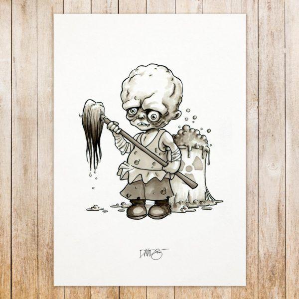 Toxic Avenger original art